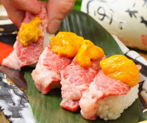 梅田 肉の寿司 肉バル鉄ペーうにく