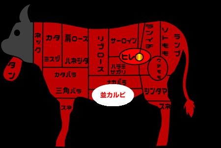 牛肉部位【並カルビ】|別名「バラ板」焼肉店の個性が最も出るメジャー部位