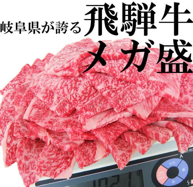 飛騨牛焼肉通販メガ盛り