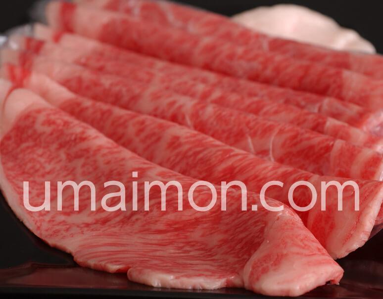 飛騨牛5等級 厚切り本格すき焼き肉 サーロイン