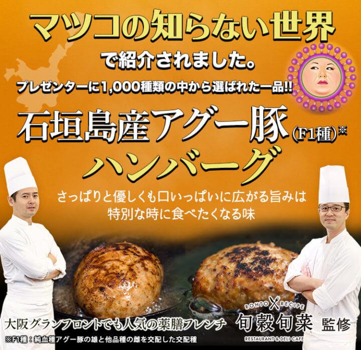 石垣島産アグー豚ハンバーグ